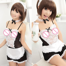 Lace 3 Three Piece Sets Sexy Lingerie Uniform Pretty Maid Three-piece Cosplay Underwear Mini Skirt Outfit Costumes Sex Erotic