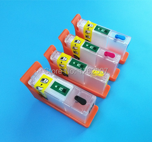 Refillable ink cartridges with chips for For Lexmark prospect pro205 PRO209 printers (L100)  -1set