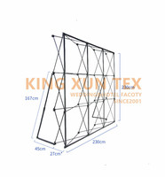 2.3M Flower Wall Stand metal Flower Backdrop Frame Good Quality Folding Stand KT Board Meeting background frame