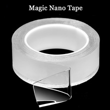 Gel Grip Silicone Tape Waterproof 3m Double Sided Tape Reusable Transparent Non-slip Strong Sticky Nano Magic Tape цена 2017