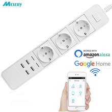 Smart Wifi Power Strip Surge Protector Multiple Power Sockets with USB Port Voice Control for Amazon Echo Alexa's Google Home