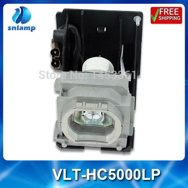 Compatible projector bulb lamp VLT-HC5000LP with housing for HC4900 HC5000 HC5500 HC6000 replacement lamp bulb with housing vlt xd206lp for md307x md307s xd206u sd206u sd206