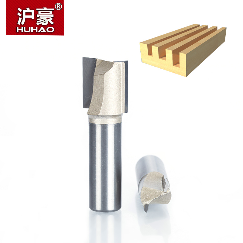 HUHAO 1pc 1/21/4 Shank 2 Flute Straight Router Bits for Wood Tungsten Carbide Endmill Milling Cutter CNC Woodworking Tools 2pc 1 2 1 4 lou cutter woodworking engraving machine tools router bits for wood milling cutter diversity pattern shank 1 2