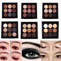 Tierra 9 Colores Pigmento de Sombra de Ojos Paleta de Maquillaje Cosmético Sombra de Ojos de Colores de Sombra de Ojos Paleta Set