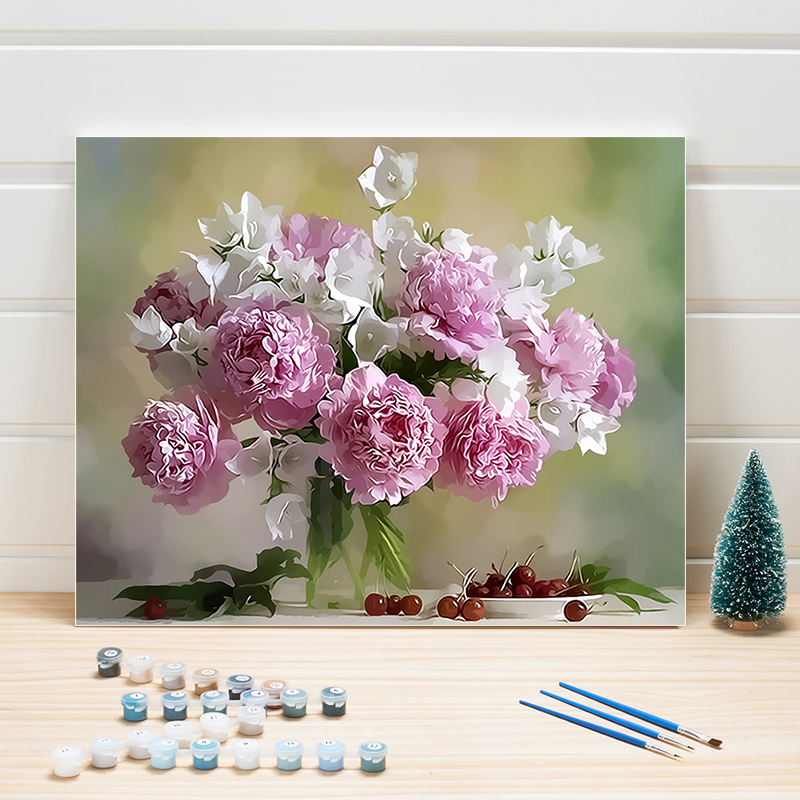 DIY Flower Painting By Numbers 40x50cm,Paint By Numbers Acrylic ,Coloring Picture By Numbers Art,Drawing By Numbers For Adults