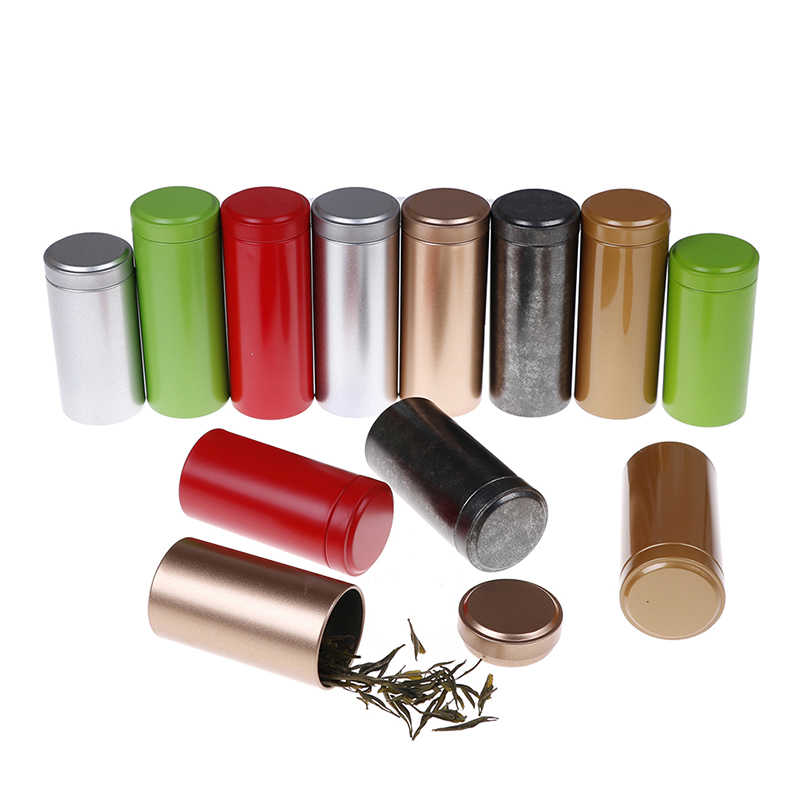 Disegel Bubuk Kopi Kaleng Daun Teh Wadah Portabel Perjalanan Teh Kadi Penyelenggara Tea Leaf Mini Aluminium Kotak Penyimpanan