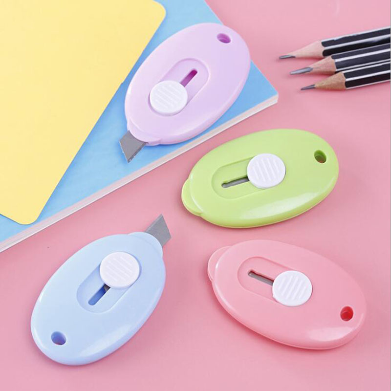 Office Stationery Portable Mini Paper Cutter Split Knives Children School Supplies Random Color