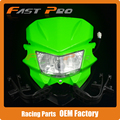 Universal Headlights Headlamp StreetFighter For KX125 KX250 KXF250 KXF450 KLX200 KLX250 KLX450 KX65 KX85 Dirt Bike Green
