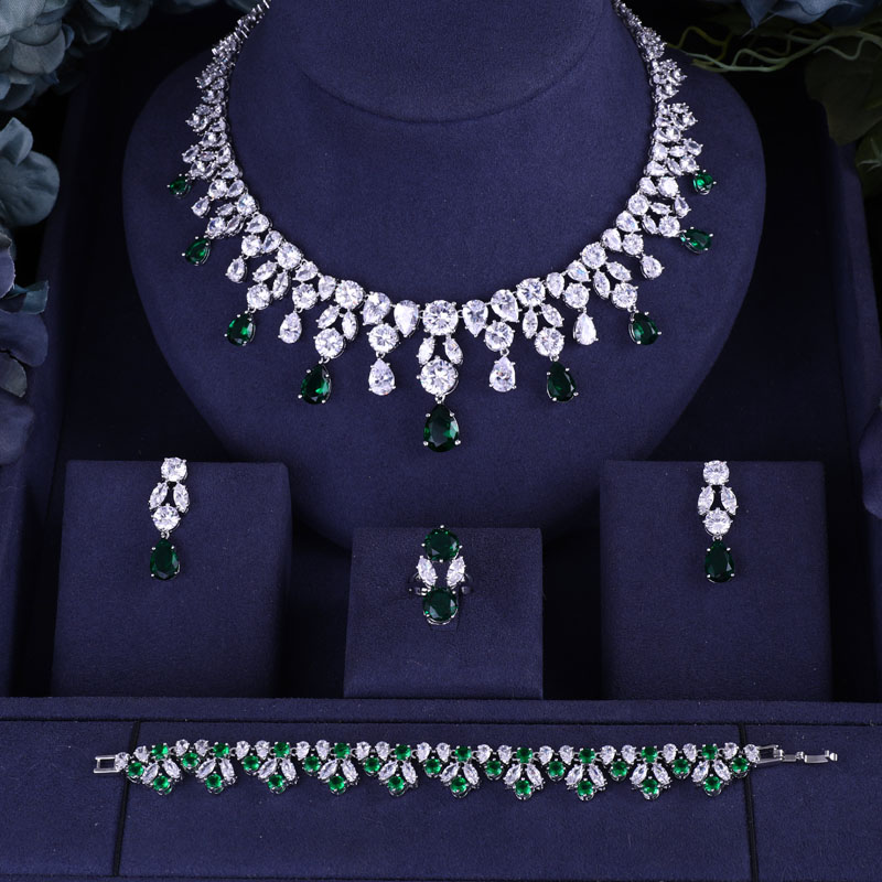HTB17GTZM9zqK1RjSZPcq6zTepXag jankelly Hotsale African Blue Bridal Jewelry Sets New Fashion Dubai Necklace Sets For Women Wedding Party Accessories Design