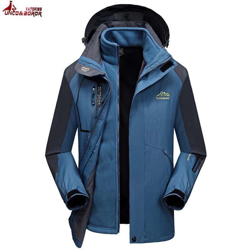 Hot Sale Plus Size 8xl 6xl 5xl 4xl Fall Autumn Jacket Men 2 In 1 Set Parka Jacket Windproof Waterproof Hooded Overcoat Casual Male Jacket Jackets & Coats Men's Clothing