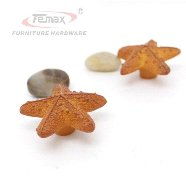 2PCS New Starfish Charm Cabinet Knobs and Handles Dresser Knob Handle Kids Pulls Bedroom Furniture