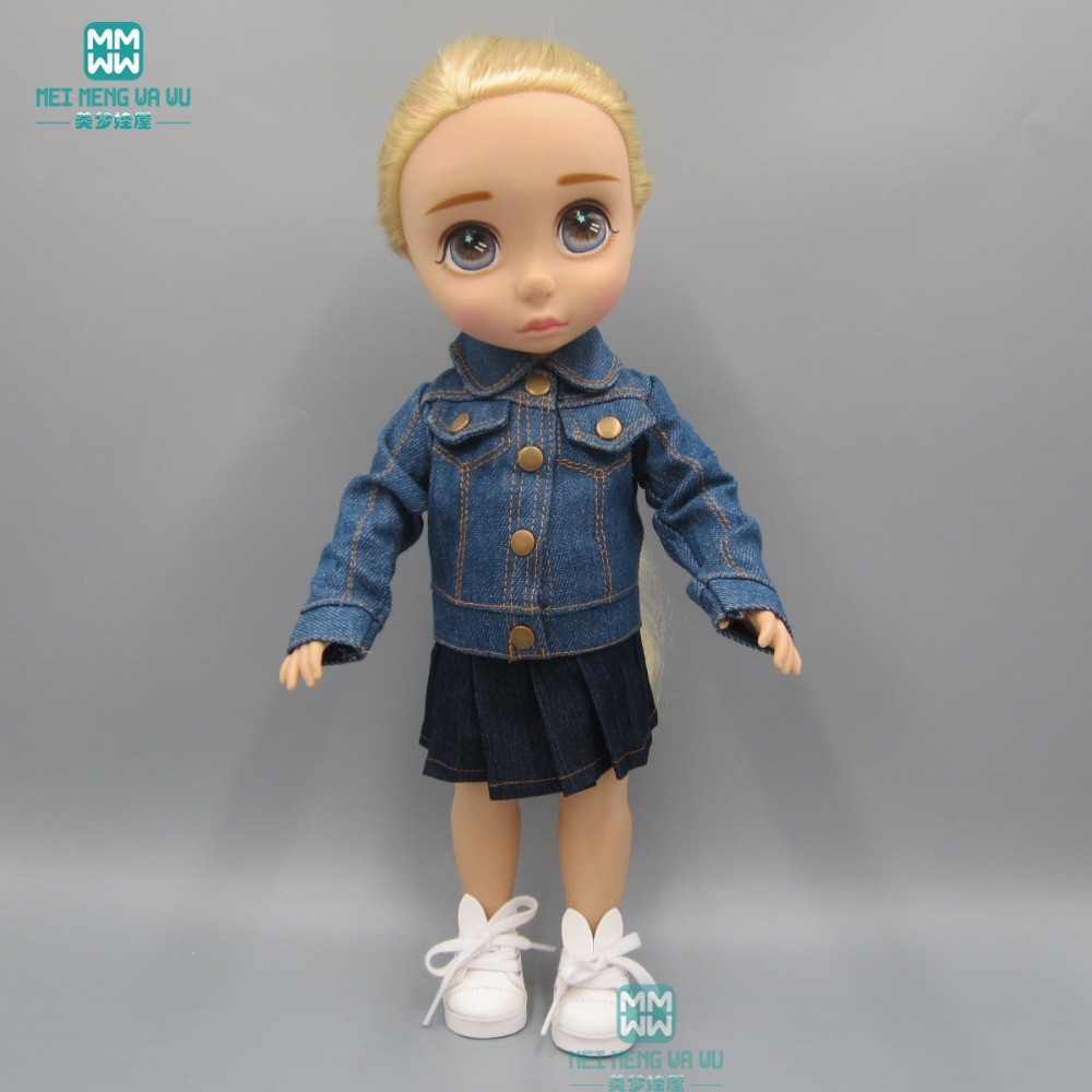 Mode veste en jean Vêtements pour poupées 40cm Salon Doll Things pour poupées filles cadeau