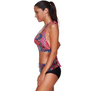 Image 5 - JOYMODE bañador con patrones tropicales para mujer, traje de baño Sexy con almohadilla de Bikini de ganchillo para playa