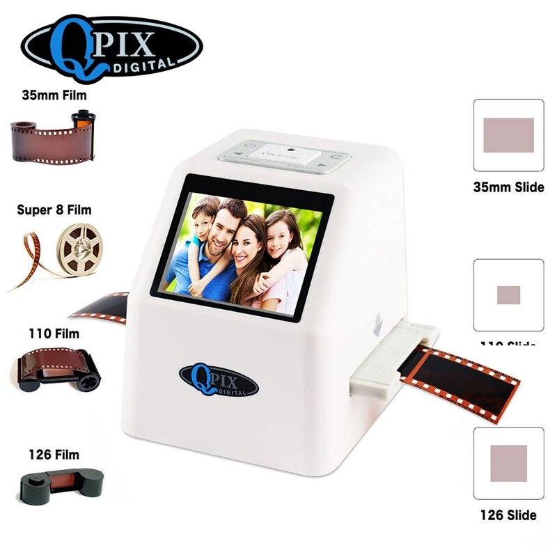 Haute Résolution 22 MP 110 135 126KPK Super 8 Négative Photo Scanner 35mm Glisser Scanner de Film Numérique Film Convertisseur 2.4 LCD
