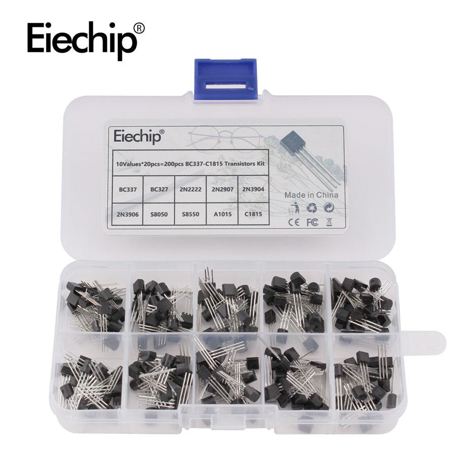 BC337 BC327 2N2222 2N2907 2N3904 2N3906 S8050 S8550 A1015 C1815 10Values*20pcs=200/set Transistors Box Pack Transistor Kit TO-92