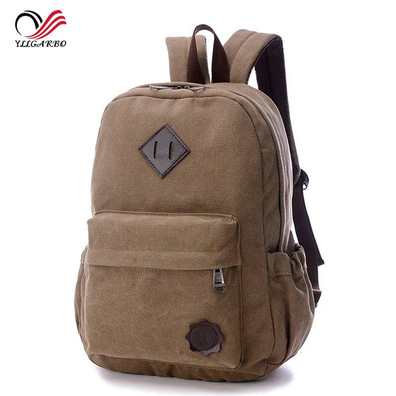2017 New High Quality Vintage Men Canvas Backpack Fashion School Bag Casual Travel Rucksack Shoulder Laptop Bolsas Mochila