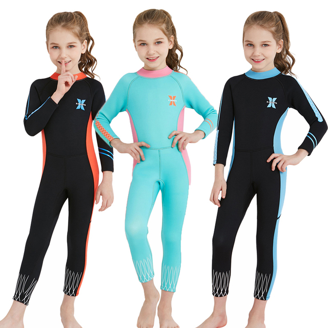44013c73b32 FAVSPORTS 2.5mm Neoprene Kids Wetsuit Skins Scuba Diving Suits Wram Swimsuit  Thermal Swimwear Summer Rash Guard Surfing Suits