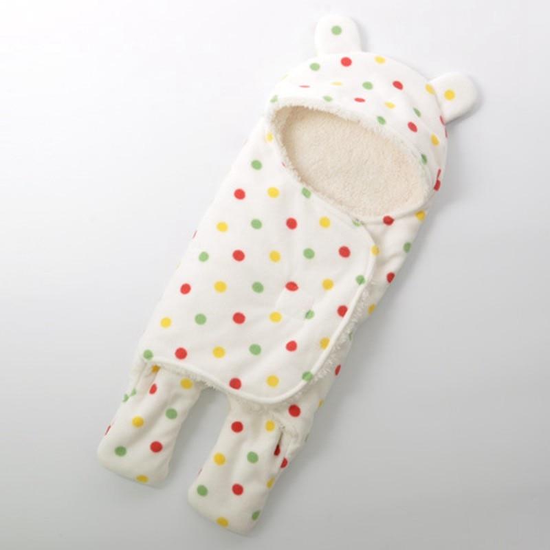 MOTOHOOD Baby Blanket Infant Thicken Flannel Swaddle Stroller Cartoon Winter Blanket Newborn Baby Bedding Blankets Sleeping Bag  (3)