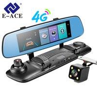 E ACE 4G Видеорегистраторы для автомобилей 7,86 дюймов сенсорный зеркало видео Регистраторы ADAS LDWS Android 5,1 gps навигация с двойной Камара объектив А