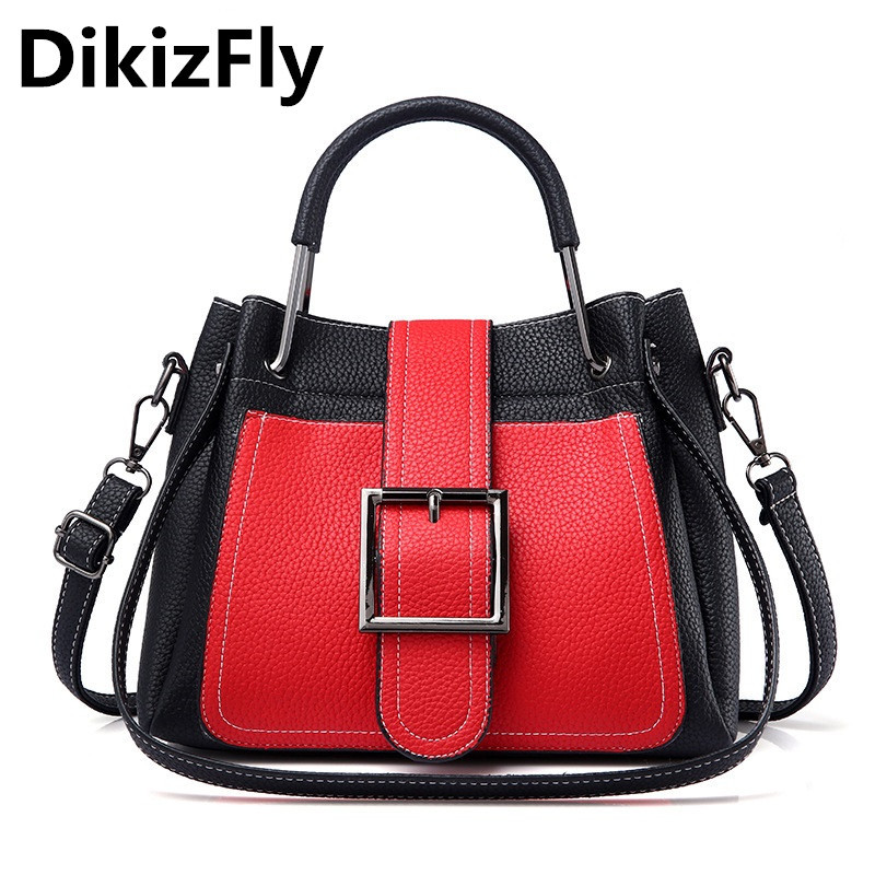 DikizFly Totes Shoulder Bags Women Bag New Handbags Fashion PU Leather Women Leather Handbag Casual Woman Crossbody Bag Female swdf 2017 new crossbody bag woman pu leather retro women shoulder bags casual fashion female small square bags mobile phone bag