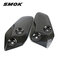 SMOK Motorcycle Accessories Carbon Fiber Foot Rests Protection Guard Cover Protector For Yamaha MT 07 MT07 FZ07 MT 07 2013 2017
