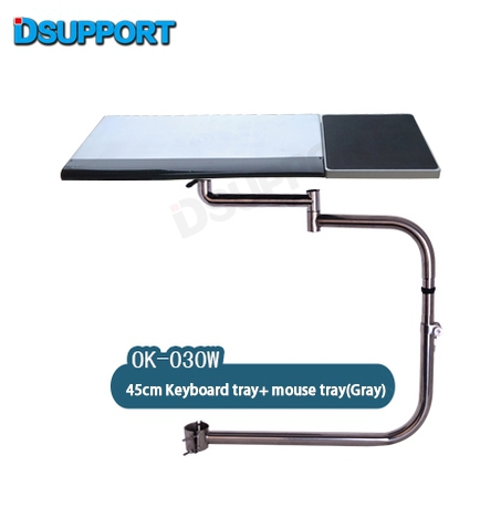 все цены на OK030 Multifunctional Full Motion Chair Clamping Keyboard Support Laptop Desk Holder Mouse Pad for Comfortable Office andGame онлайн