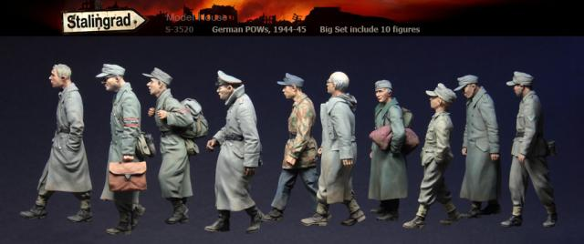 Stalingrad S 3570 German Pows 1944 45 Big set include 10 figures 1 35 Resin Model