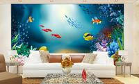 3d room wallpaper custom mural non-woven picture 3 d Fish group Playing in the sea painting photo 3d wall murals wallpaper
