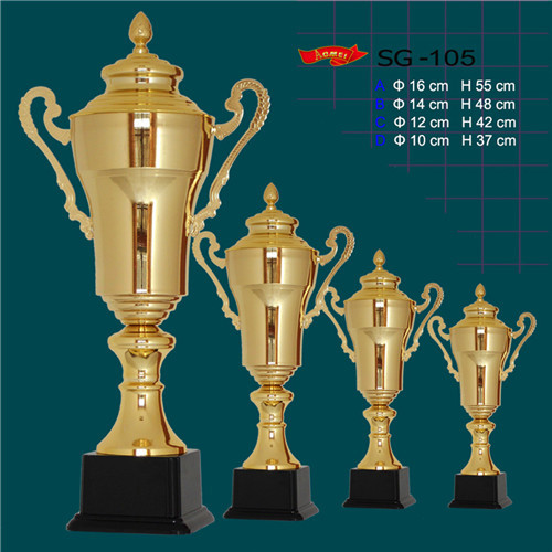 SG 105 Gold Plated Metal Trophy Winners Cup font b Bowling b font trophy sport award