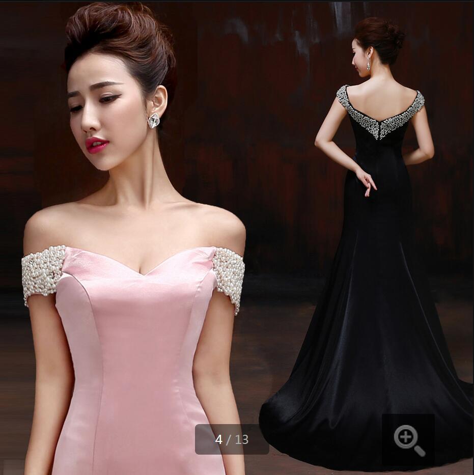 Платье вечернее розовое с черным