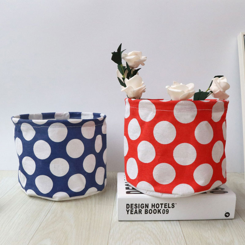 Folding Cosmetic Storage Basket Desktop Sundries Toy Remote Control Mini Organizer Cloth Waterproof 21*16cm