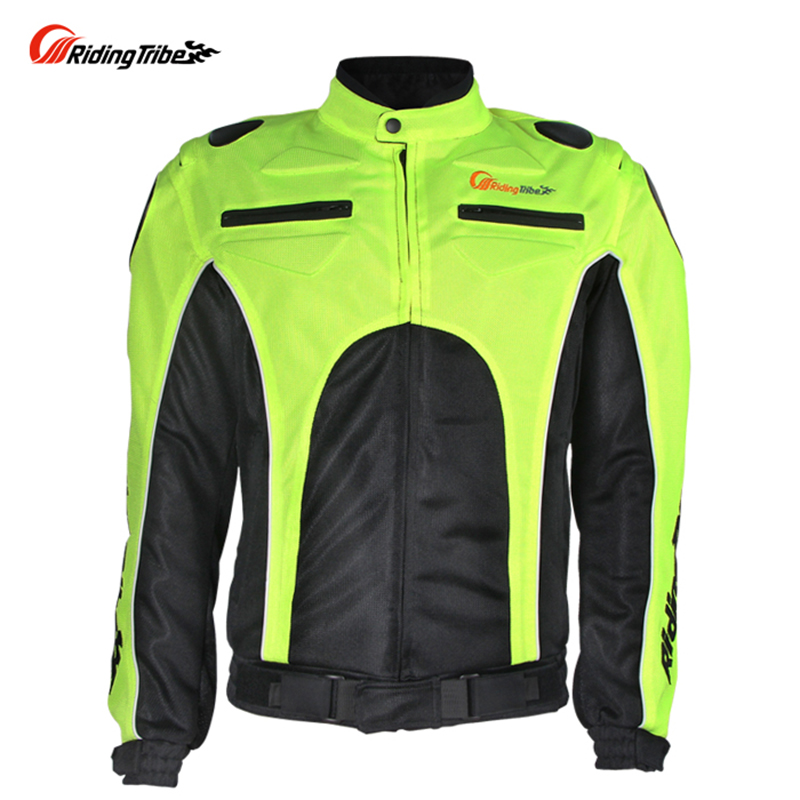 ФОТО Riding Tribe Professional Breathable Mesh Cloth Motorcycle Jacket Men's Motocross Riding Racing Jacket With Protector Gear