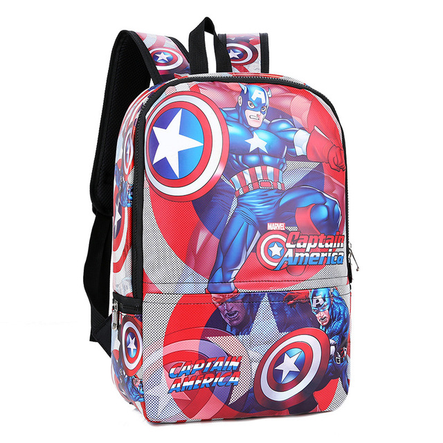 adfc3cf71b 2018 Anime Captain America Backpacks The Avengers Backpack Girls Boys  School Bags Shield Captain America Kids