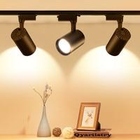 Qyartistry LED Track Light COB Rail Spotlights Lamp Leds Tracking Fixture Spot Lights Bulb for Store Shop Mall Exhibition|Track Lighting| |  -