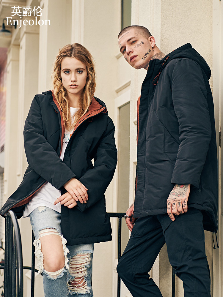 Enjeolon брендовая зимняя толстая зимняя длинная куртка с капюшоном Мужская парка с капюшоном пальто Мужская теплая парка пальто 3XL пуховая пар...