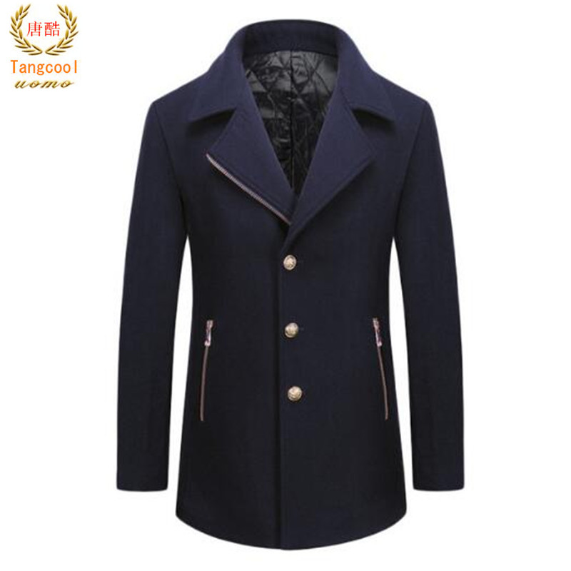 54.1% Merino wool coats 2018 brand new autumn winter new style mens high quality ironing ...