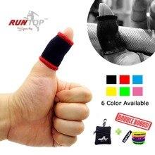 RUNTOP перчатки для большого пальца защита от крючка для тяжелой атлетики Powerlifting Crossfit тренировочное полотно для предотвращения разрывов