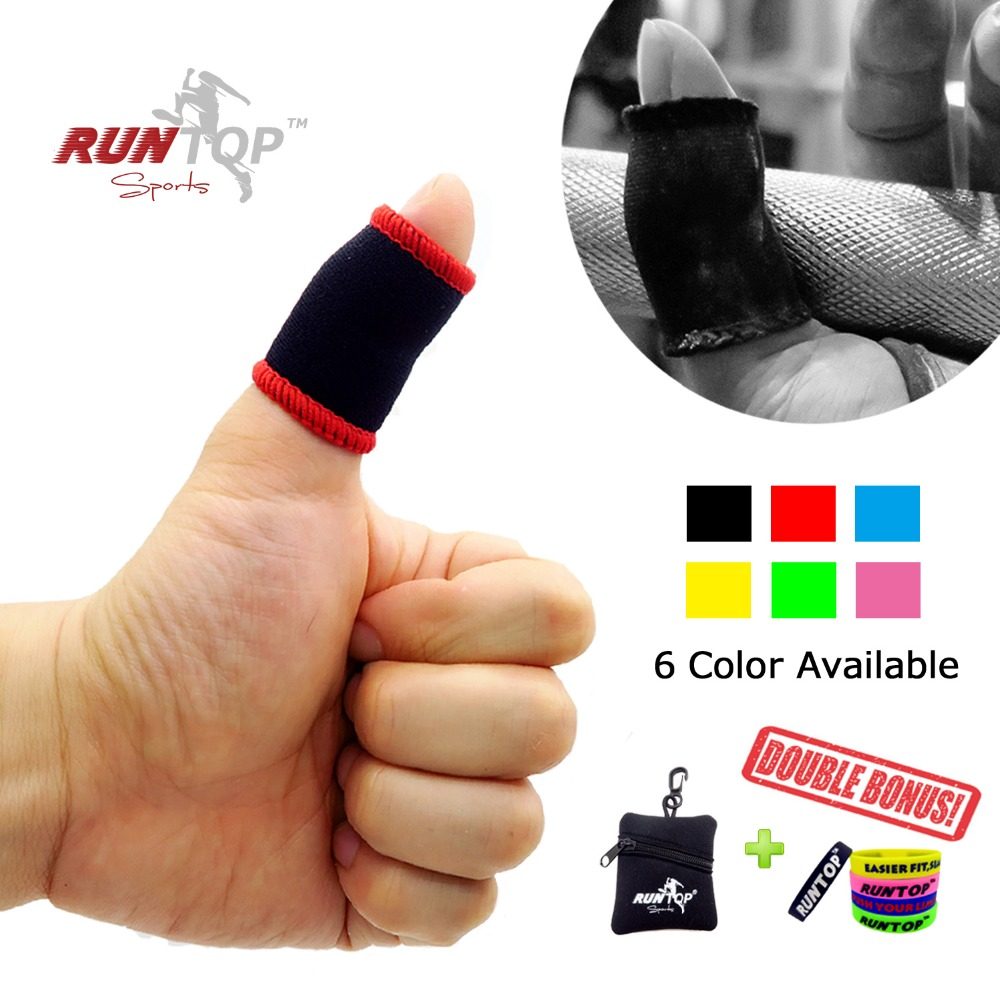 RUNTOP Finger Thumb Sleeves Hook Grip Protection for Weightlifting Powerlifting Crossfit Training WODs Prevent Tear Rips Blister Термос