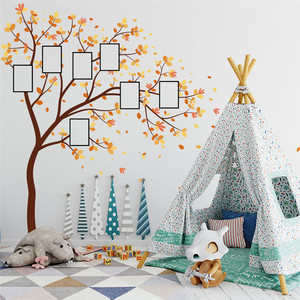 Image 5 - 家族写真 Diy の写真の木携帯クリエイティブ壁貼付装飾壁のステッカー窓 DecorRoom カールポスター