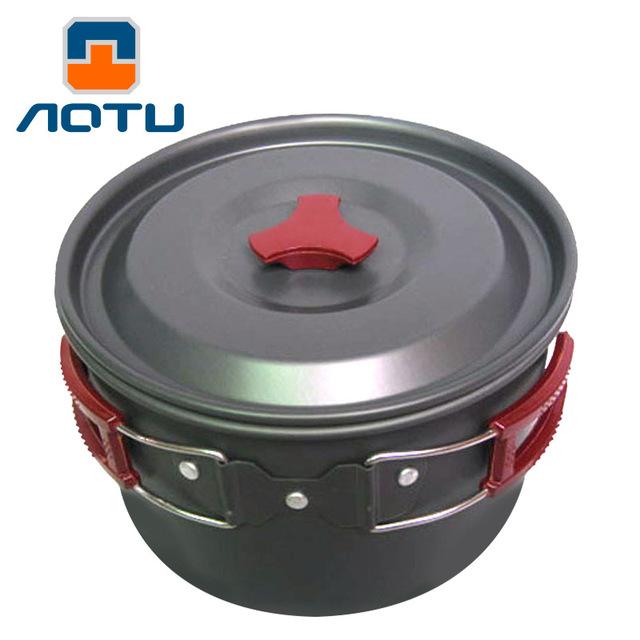 3L Ultralight Hanging Alumina Pot Frying Pan Outdoor Camping aluminium Bowl Cup For Camping Cookware Picnic set