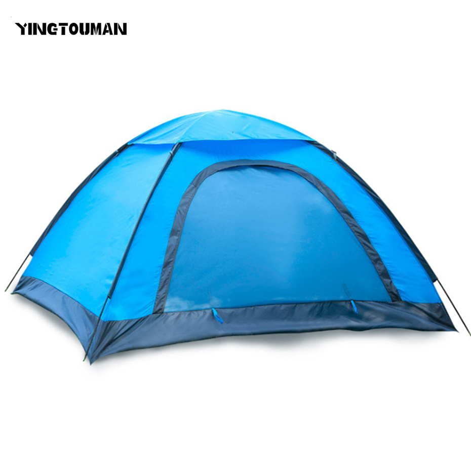 Здесь продается  YINGTOUMAN Outdoor 2-3 Person Tent Portable Camping Hiking Lovers Family Shelter Tent Sun Protection Camping Accessories  Спорт и развлечения