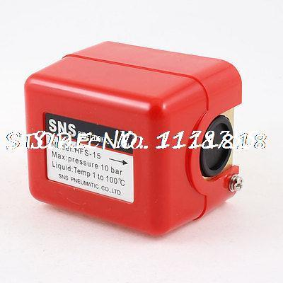 AC 250V 15A SPDT Plastic Case Water Flow Control Switch Red Shell zndiy bry hfs 20 spdt ac 250v 15a water flow control switch red