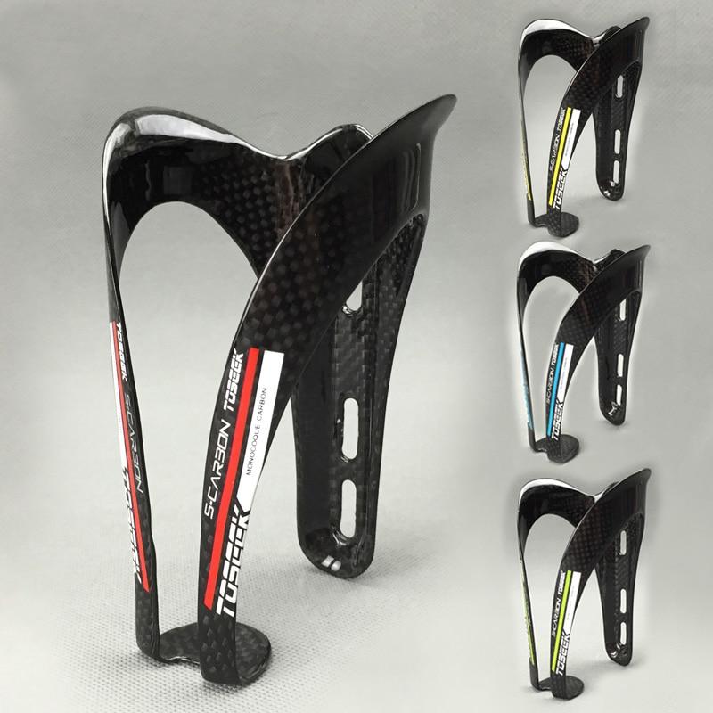 TOSEEK kohlefaser rennrad mountainbike wasser flaschenhalter flaschenhalter Universal Flaschenhalter 2 TEILE / LOS
