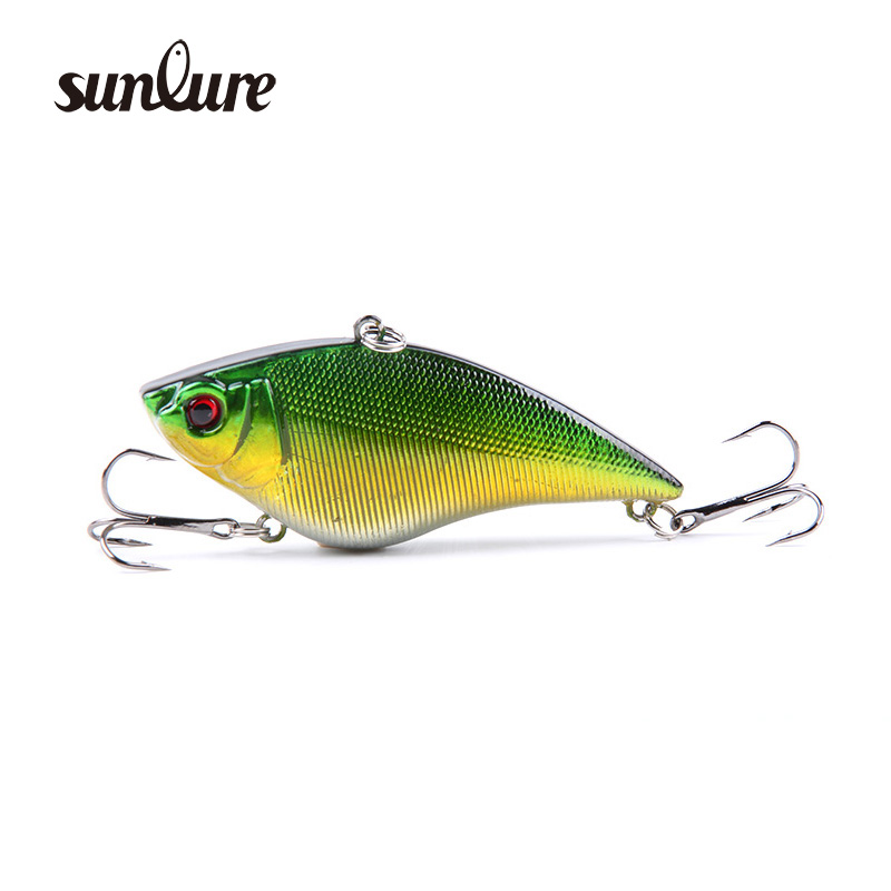1PCS 7cm 16g Hard VIB Lures 5colors Fishing Lure Bait Treble Hooks wobblers iscas artificiais para pesca fishing tackle ZB15
