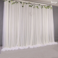 Silk Cloth Wedding Backdrop Drapes Panels Hanging Curtains Yarn Stage Blackground Photo Party Events DIY Decoration Textiles