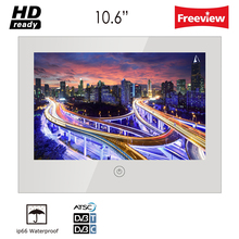 hot deal buy souria 10.6inch vanishing magic mirror shower tv ip66 waterproof hotel bathroom television led tv