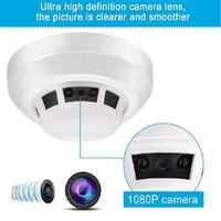 Night Vision Smoke Alarm Sensor IP NETWORK WIFI SECURITY CCTV CAMERA IR CUT SECURITY HOME SECURITY
