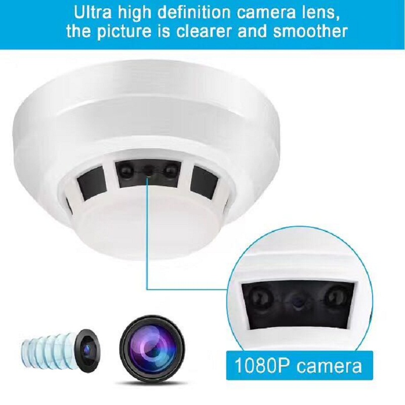 Night Vision Smoke Alarm Sensor IP NETWORK WIFI SECURITY CCTV CAMERA  IR-CUT  SECURITY HOME SECURITY  SD H.264 Support 32GB wifi infrared sensor cctv camera 1280 720hd night vision app control 1280 720hd home linkage alarm function security home