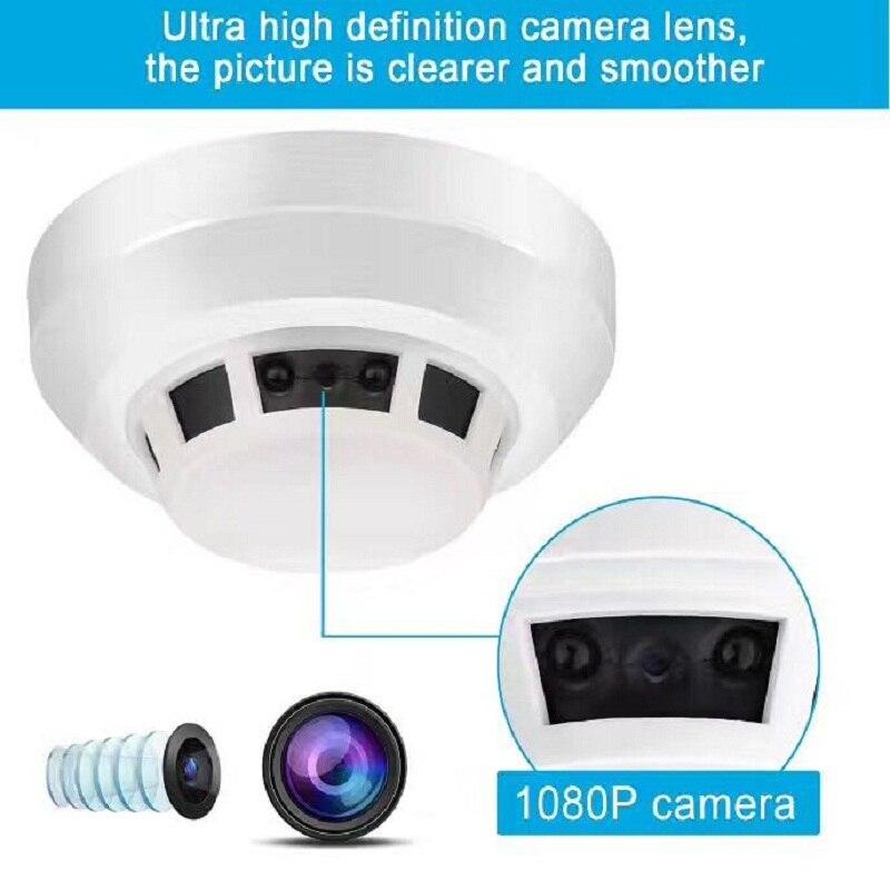 Night Vision Smoke Alarm Sensor IP NETWORK WIFI SECURITY CCTV CAMERA IR-CUT SECURITY HOME SECURITY SD H.264 Support 32GB