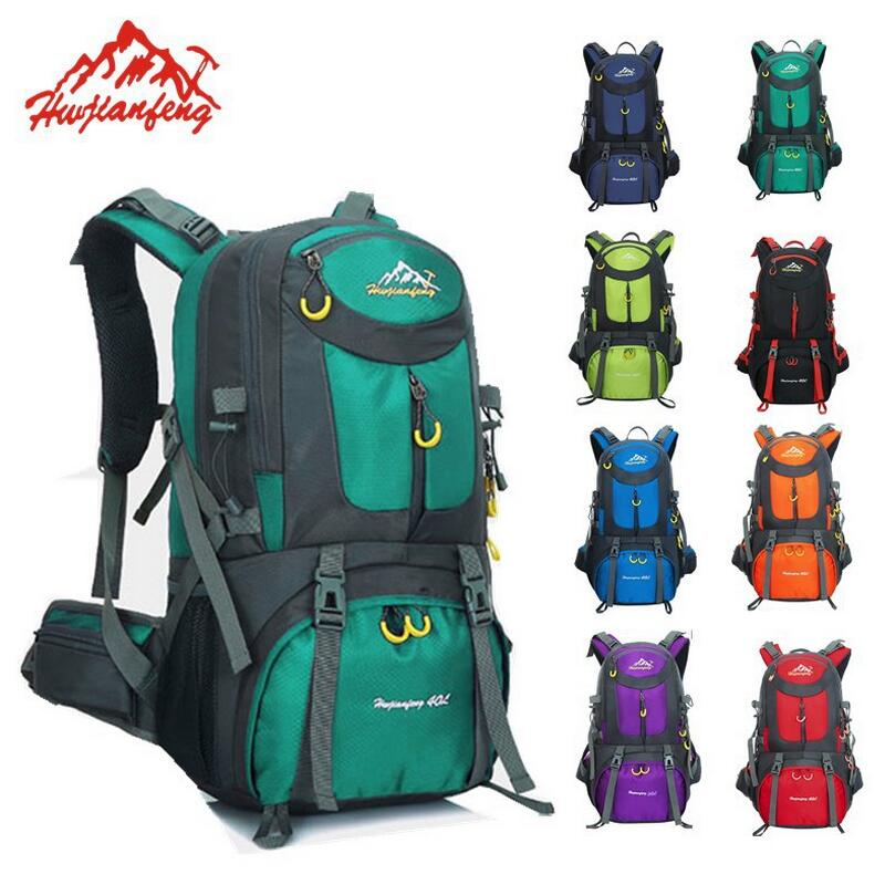 Outdoor Camping Climbing Bag 60L Sports Backpack Large Capacity Waterproof Travel Backpack 40L Rucksack 50L Hunting Hiking Bags free knight hiking backpack 50l waterproof sports bag multifunctional outdoor bags camping hunting travel treck mochila backpack
